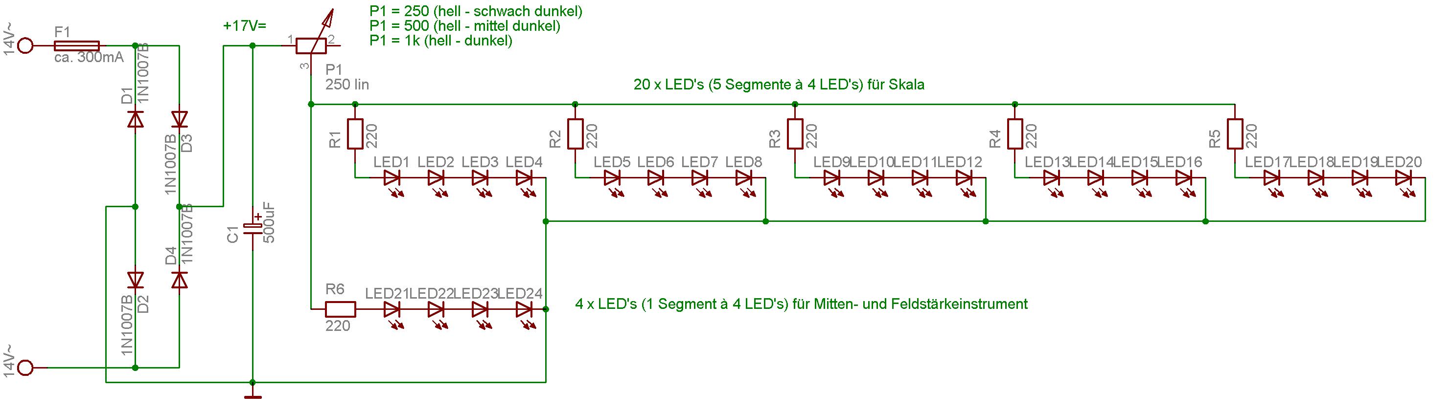 Skalenbeleuchtung Akai AA-1040 Receiver